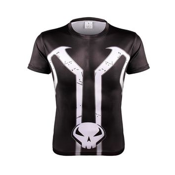 Mens Fashion Slim T-shirt 2018   Superhero The Avenger Spawn 2 Cosplay 3D Printed Tee Male Casual Tops