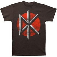 Dead Kennedys Men's  Distressed Logo Slim Fit T-shirt Coal
