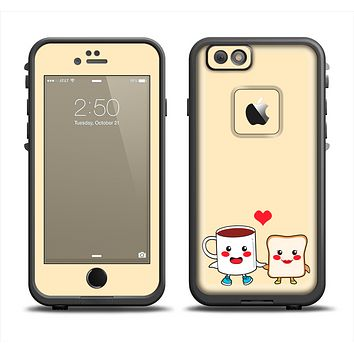 The Cute Toast & Mug Breakfast Couple Apple iPhone 6 LifeProof Fre Case Skin Set