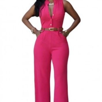 Classic High Waist Jumpsuit