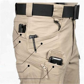 Brave Men Cargo Pants Spring Autumn Military Archon Europe US Russia CEO police Cotton blend brown green Pockets Firm Sewing