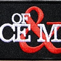 OF MICE & MEN Logo Punk Rock Heavy Metal Music Band Jacket shirt hat blanket backpack T shirt Patch Embroidered Appliques Symbol Badge Cloth Sign Costume Gift