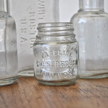 Vintage Glass Bottle Collection - Five Apothecary Jars