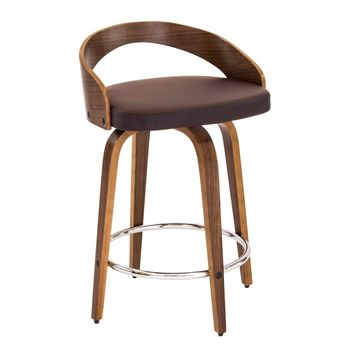 Grotto Counter Stool Walnut, Brown