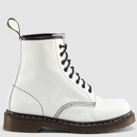 Dr Martens 1460 Boot WHITE MILLED SMOOTH - Doc Martens Boots and Shoes