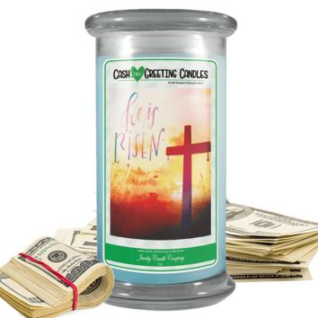He Is Risen | Cash Greeting Candle