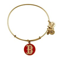 Alex and Ani Red Boston Red Sox™ Cap Logo Charm Bangle - Russian Gold