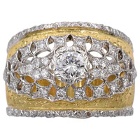 Mario Buccellati Diamond Gold Band Ring