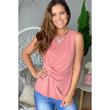 Rose Top with Knot Detail