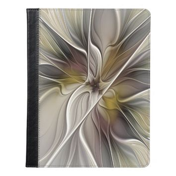 Floral Fractal, Fantasy Flower with Earth Colors iPad Case