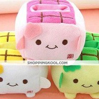 Kawaii Hannari Tofu Cell Plush Phone Holder Christmas Gift