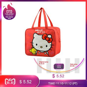 Mihawk Hello Kitty Cute Lunch Bag Women's Kid's Portable Handbag Travel Leisure Storage Pouch Accessories Supplies Products Gear