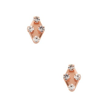 Marc by Marc Jacobs Jewelry Women's Diamond Shaped Stud Earrings - Gold