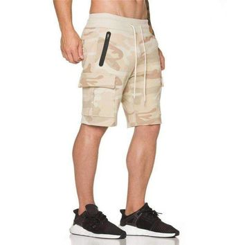 DCCKON3 Camouflage Shorts Calf Length Jogger Mens Shorts Sweatpants Fitness Man Workout Cotton Shorts 9XZ