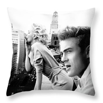 Marilyn Monroe And James Dean New York Iphone 6 Plus Cover Case 2011 Throw Pillow
