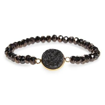 Panacea Drusy Beaded Stretch Bracelet | Nordstrom