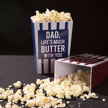 Dad, life's much butter with you - Popcorn Bowl