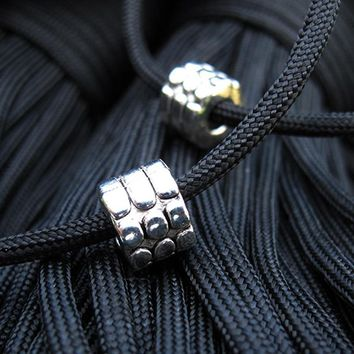 New Paracord Bracelet Accessories Survival Pendant Flashlight Pendant  Metal Buckle beads for Paracord Knife Lanyards