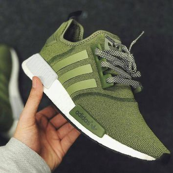 One-nice™ ADIDAS NMD Fashion Trending Women&Man Leisure Running Sports Sneakers Shoes Olive green