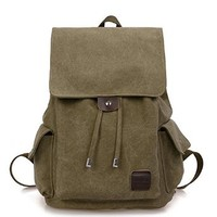 Men's Canvas Vintage Rucksack Multipurpose Outdoor School Backpacks