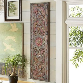 Tall Carved Wall Decor