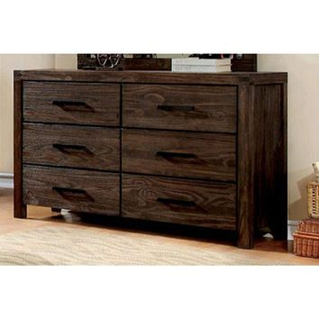 Immaculate Wooden Designer Dresser In Contemporary Style,  Dark Gray By Casagear Home