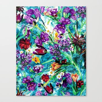 Floral Jungle Canvas Print by RIZA PEKER