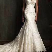 New Mermaid 2015 White/Ivory Lace Wedding Dress Bridal Gown Size6 8 10 12 14 16+