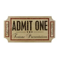 Theater Ticket Wall Plaque