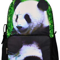 Panda Print Large Backpack