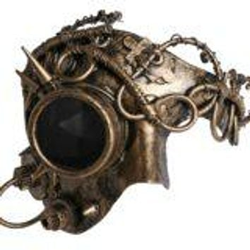 Gold Mechanical Phantom Mask