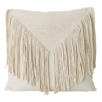 Elton Fringe Pillow - Natural