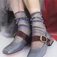 Buy Geisha Beaded Sheer Socks | YesStyle