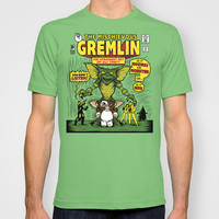 The Mischievous Gremlin T-shirt by Mike Handy Art