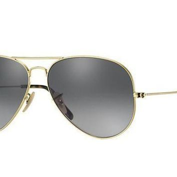 LMFON Ray Ban Aviator Sunglass Gold Dark Green RB 3025 181