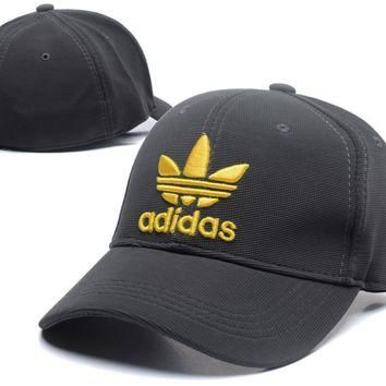 Gold Black Adidas Baseball Cap Hat Snapback