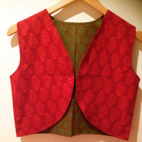 Cropped jacket/ cotton jacket /cropped cotton jackets / red cropped jacket / green cotton jacket