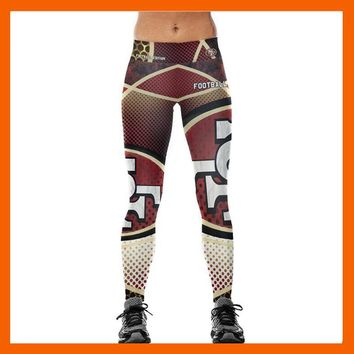 SAN FRANCISCO 49ER 3D PRINT WOMEN LEGGINGS HIGH WAIST