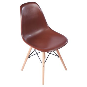 Eames Style Side Chair, Brown