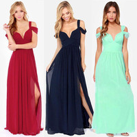 SIMPLE - Fashionable Hot Popular Sexy Annivesary Dinner Party Night Prom Long Dress b86