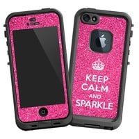 "Keep Calm and Sparkle ""Protective Decal Skin"" for LifeProof fre iPhone 5/5s Case"