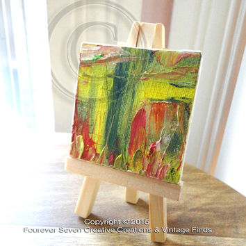 Mini Oil Painting With Easel Original Oil Painting Original Art Abstract Painting Impressionist Small Oil Painting Mini Painting On Guard