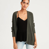 AE Super Soft Ribbed Cardigan, Olive