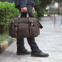 Large Handmade Vintage Leather Travel Bag / Leather Messenger Bag / Overnight Bag / Duffle Bag / Weekend Bag  D32