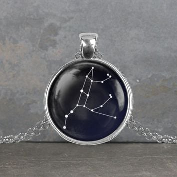 Ursa Major constellation pendant, your choice of silver or bronze and necklace or key ring