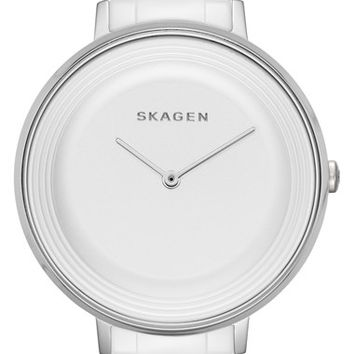 Women's Skagen 'Ditte' Round Ceramic Bracelet Watch, 36mm