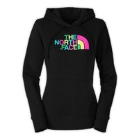 Womens North Face Half Dome Hoodie TNF Black Multi Print Size X-Large