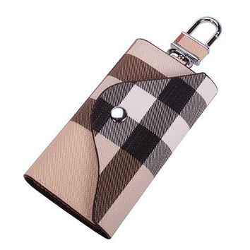 PU Leather Plaid Key Car Wallets Car Key Holder Bag Key Purse Pouch by Linsam