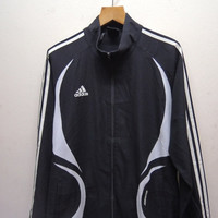 25% SALES ALERT Vintage 90's Adidas Sweater Fully Zipper Bomber Jacket Sport Wind Breaker