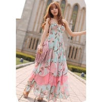 Bohemian Flouncing Chiffon Dress